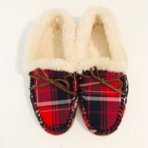 J. Crew Women's Plaid Moccasin Slippers Size 10